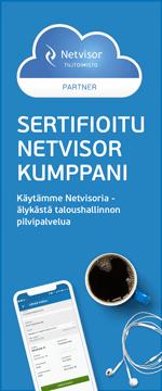 Sertifioitu Netvisor kumppani älykkääseen taloushallintoon